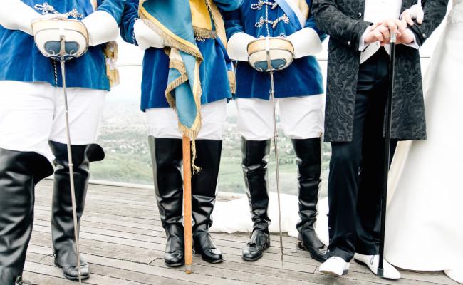 Chargieren bei der Hochzeit