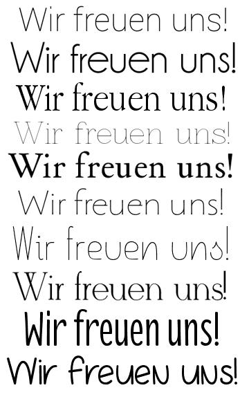 Schriftarten für die Hochzeitseinladung: Moderne und klare Fonts