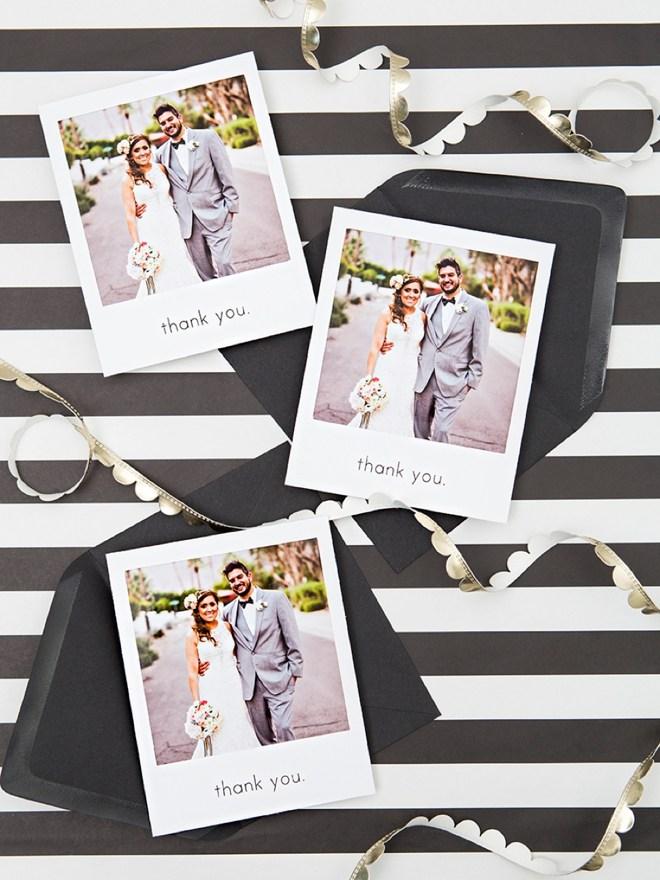Ein Danke nach der Hochzeit mit schönen Polaroids