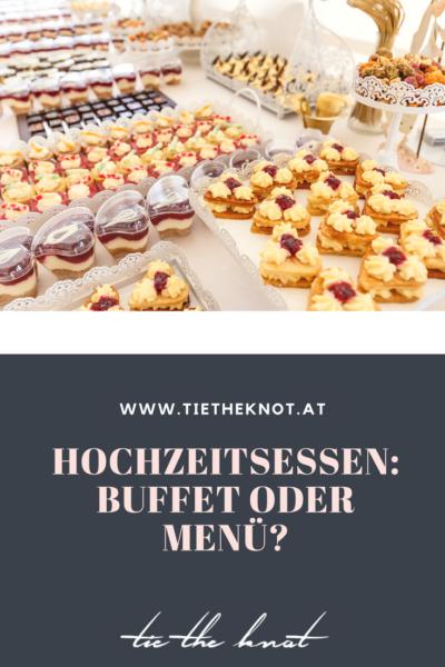 Hochzeitsessen planen: Buffet oder Menü?