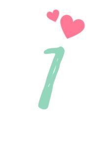 Tischnummern zum Ausdrucken 1