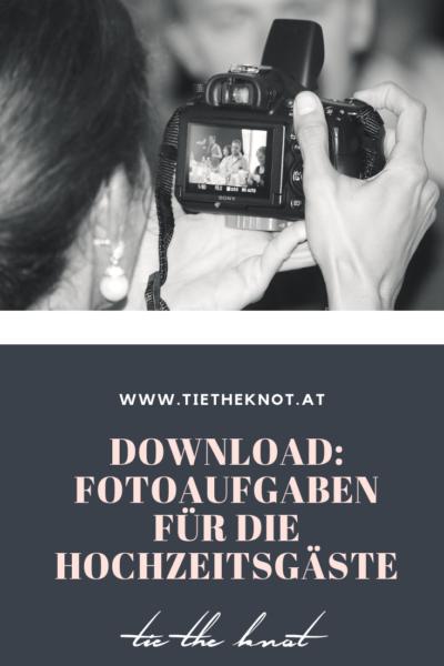 Fotoaufgaben für Hochzeitgäste zum Download