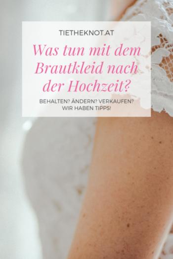 Was tun mit dem Brautkleid nach der Hochzeit?
