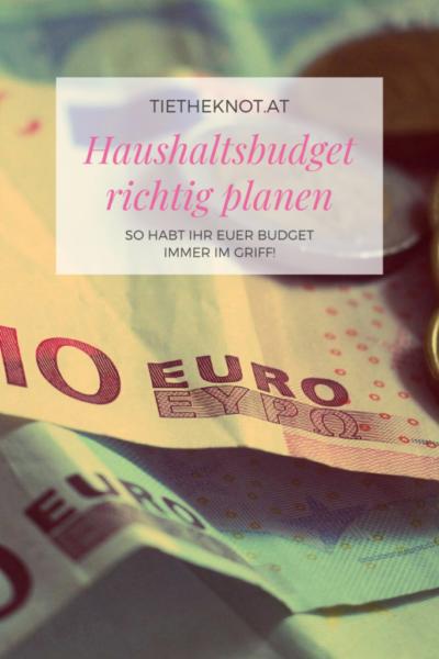 Haushaltsbudget richtig planen