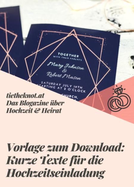 Download: Kurze Texte für die Hochzeitseinladung